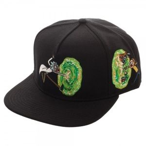 Rick and Morty Portal on Side Snapback Hat Adult